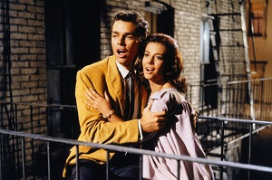 Richard Beymer y Natalie Wood en West Side Story