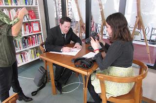 Alessandro Cassa à Londres en entrevue