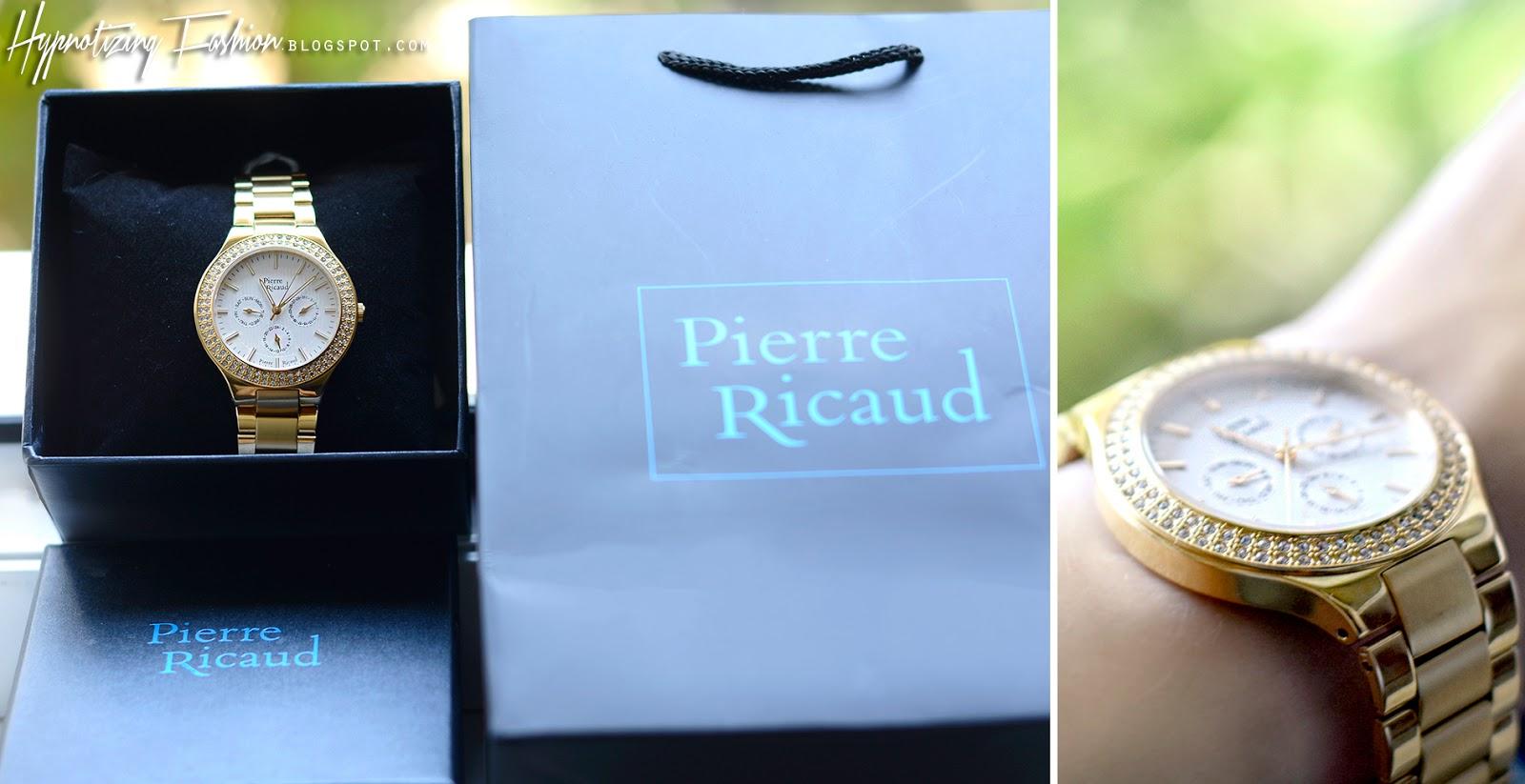elegancki złoty zegarek