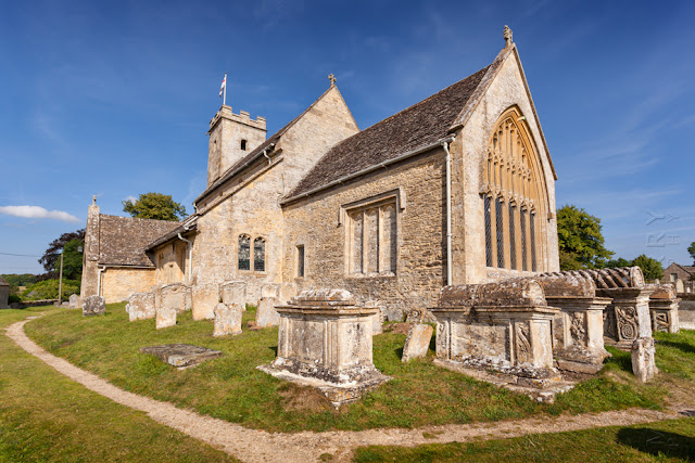 St Mary's church in the Cotswold village of Swinbrook by Martyn Ferry Photography