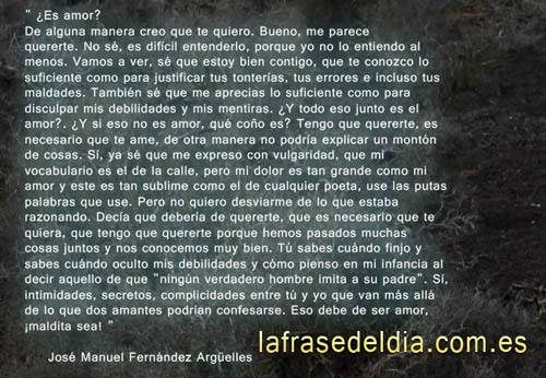 Cuento de amor , José Manuel Fernández Argüelles