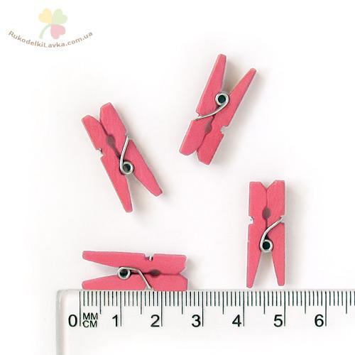 розовые мини-прищепки