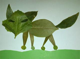 prakarya dari daun kering
