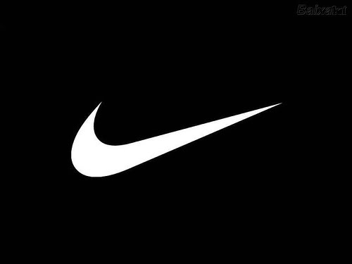 blk nike logo