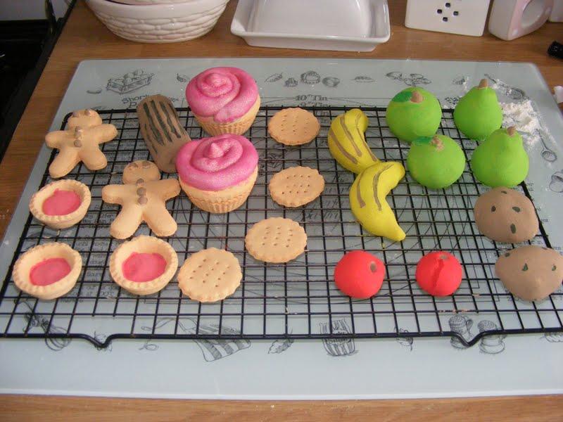 Modeling Dough For Cakes Having Made Salt Dough Models