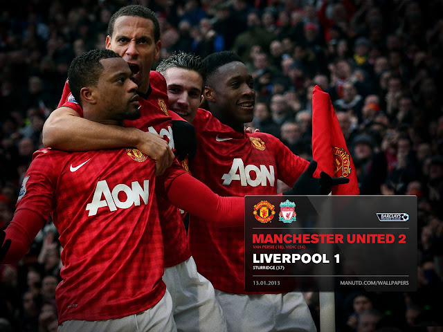 Final score wallpaper, Manchester united vs Liverpool 2-1