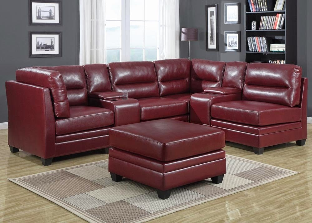 red leather sofa. Black Bedroom Furniture Sets. Home Design Ideas