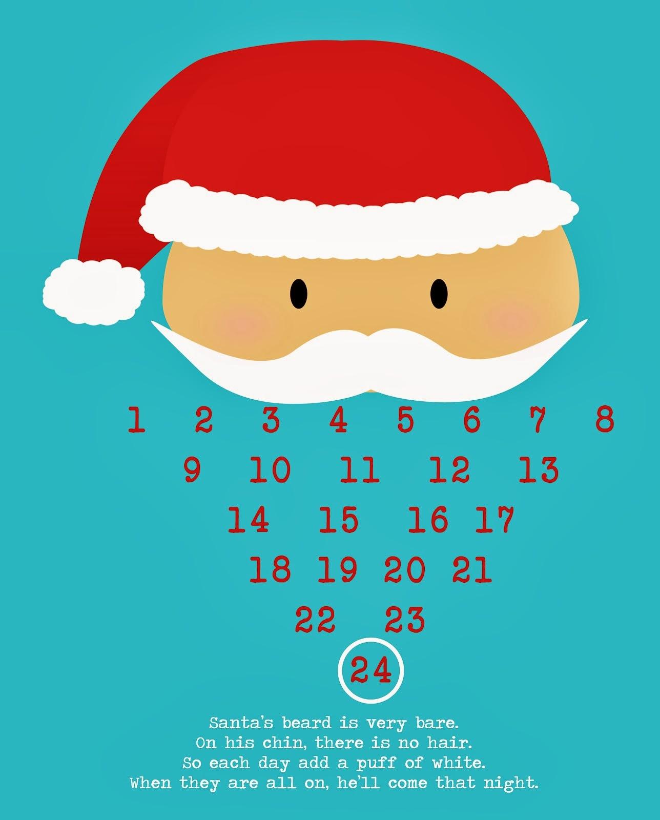 picture regarding Printable Christmas Countdown named Printable Xmas Countdown - High definition Wallpapers Weblog