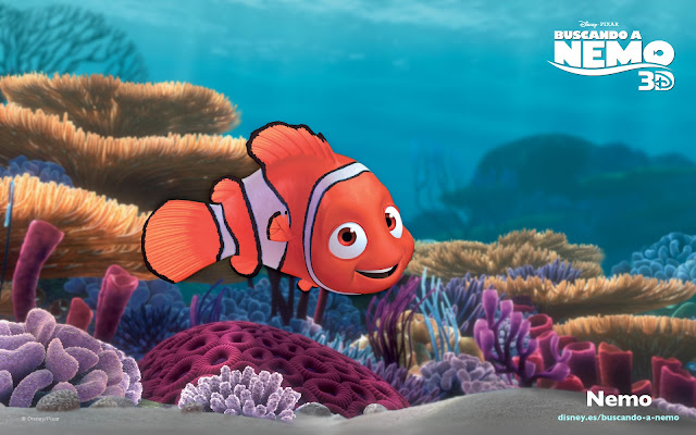 Wallpaper de la película de Pixar buscando a Nemo, Nemo, el hijo de Marlin