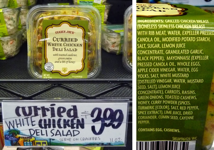 The 99 Cent Chef Trader Joes Curried White Chicken Deli Salad Recipe