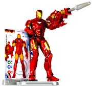 2010 Hasbro Movie Series #10 Iron Man 2 Iron Man Mark VI (hasbro movie series iron man iron man mark vi stand )