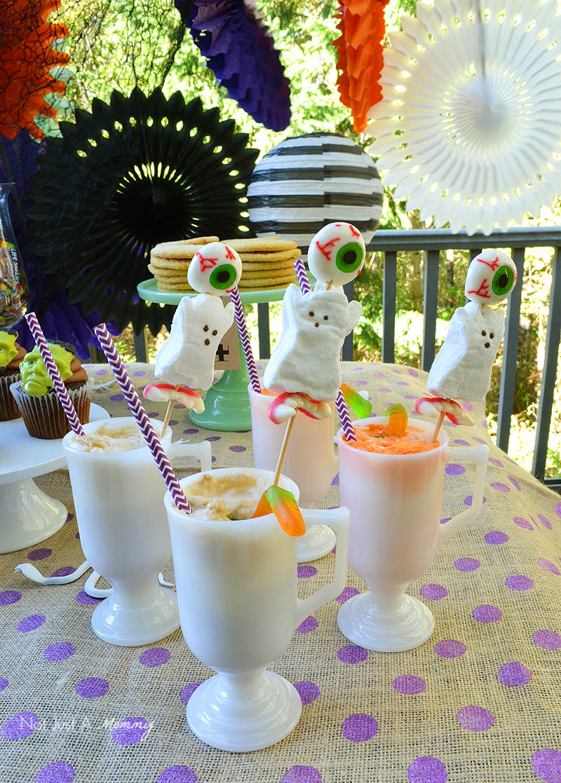BOO It Forward Party rootbeer and orange soda floats