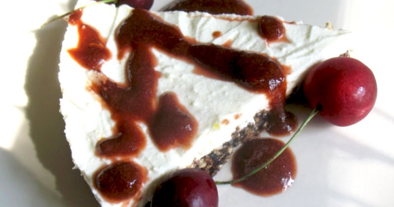 No-Bake Lemon Cherry Cheesecake