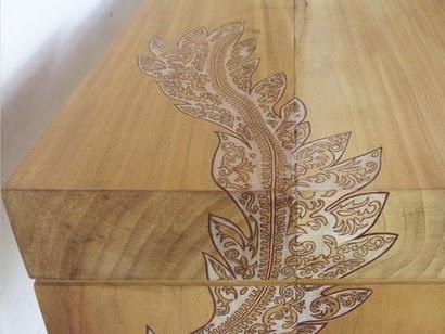 Movel de madeira com um toque de arte