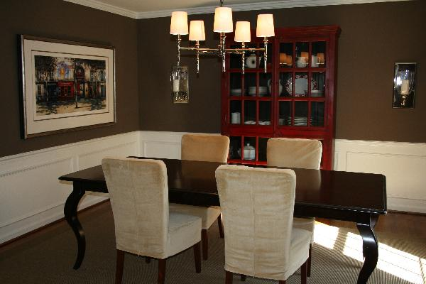 Chocolate dining room