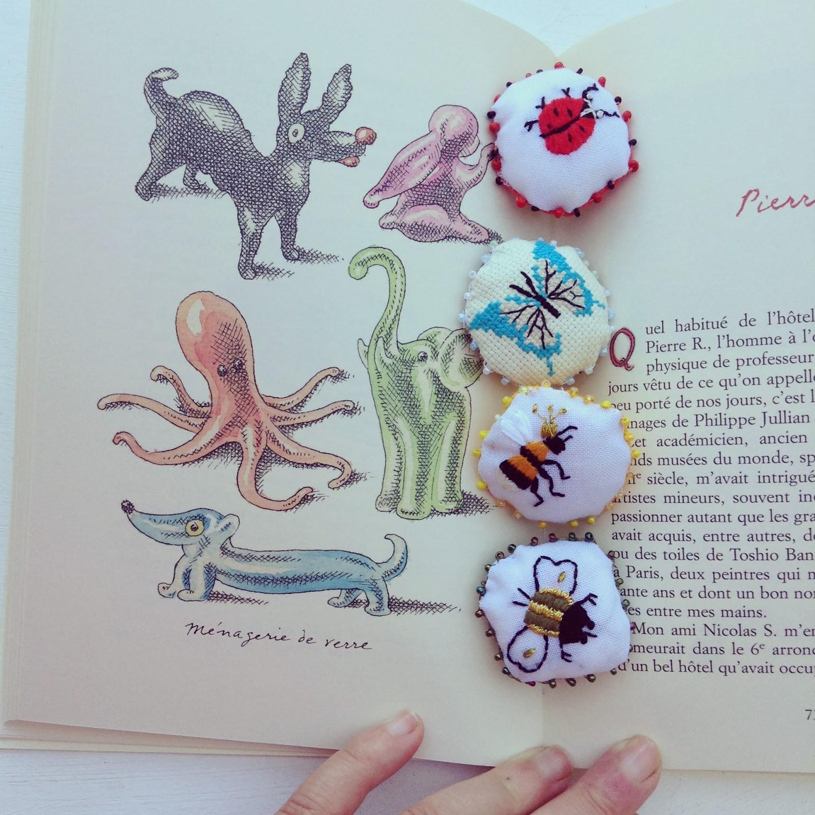 broderies insectes livres les collectionneurs Pierre Le-Tan