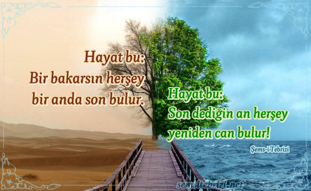 RESİMLİ ŞEMS-İ TEBRİZİ SÖZLERİ - 2