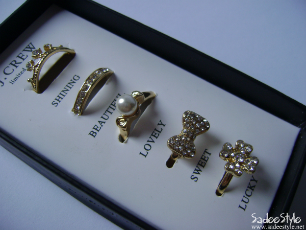 J. Crew Limited Edition Fashion Rings