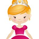 Coloriage princesse en papier