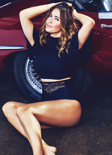 Lisa Snowdon sexy poses in Fabulous Magazine 20th September 2015 photoshoot