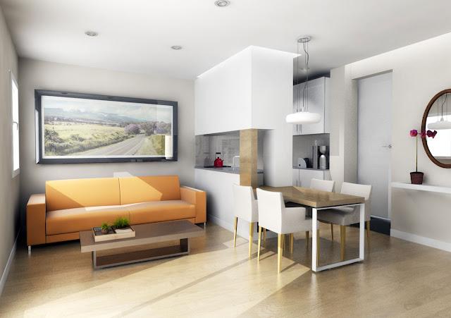 Sala comedor en espacio pequeno living and dining in small for Salas para espacios pequenos