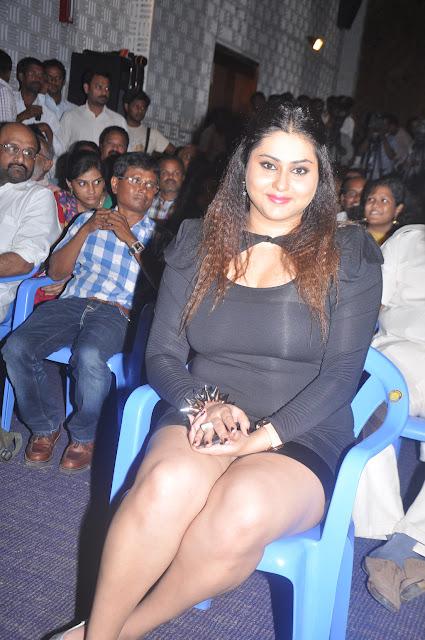 Hot Namitha exposing Thighs @ Gugan Audio Launch