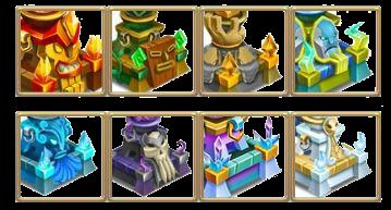 imagen de los templos de monster legends