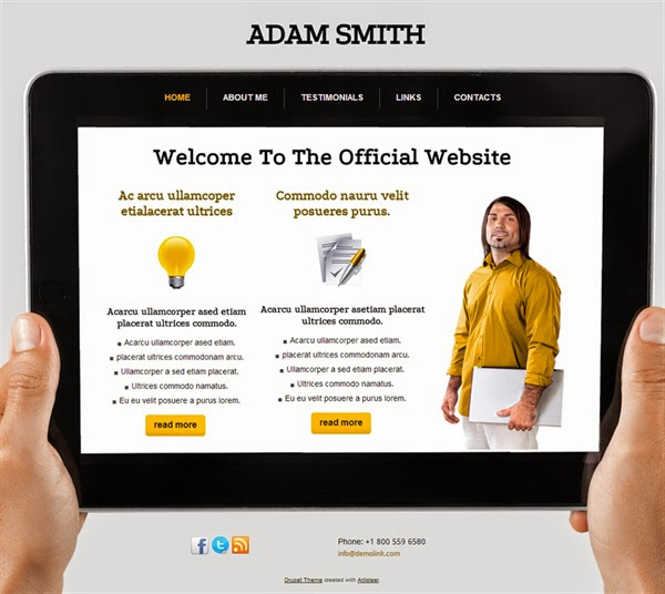 Adam Smith - Free Drupal Theme
