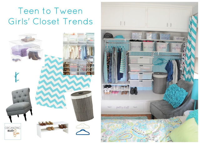 Teen/Tween Girl's Closet trends and mood board :: OrganizingMadeFun.com
