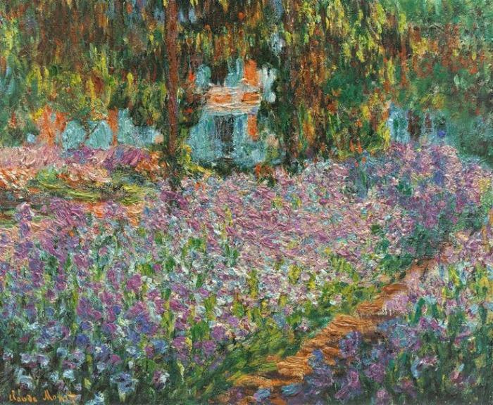 Claude Monet, Le jardin de l'artiste à Giverny, 1900. Jardin de Monet en Giverny