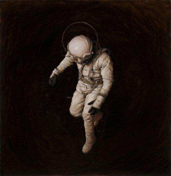 jeremy geddes pinturas hiper realistas surreais cosmonautas explosões