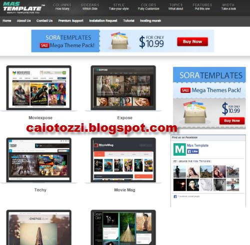 mastemplate situs populer tempat download blogger template