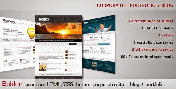 Bolder - Themeforest Premium Corporate & Portfolio Template - Free ...