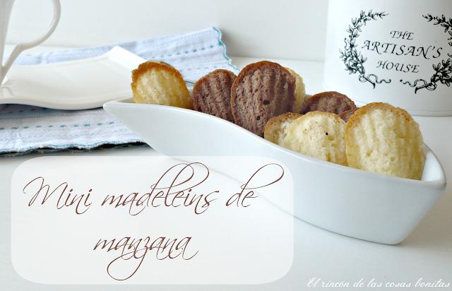 mini madeleins de manzana