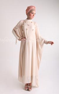 ... gambar contoh model baju gaun gamis pesta muslimah modern terbaru