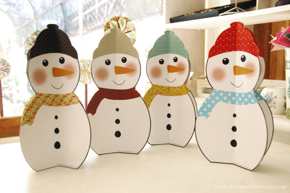 Jolly paper snowman from artisan paperie for How to make snowman with paper