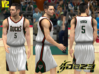 NBA 2K13 Milwaukee Bucks Home Jersey Patch