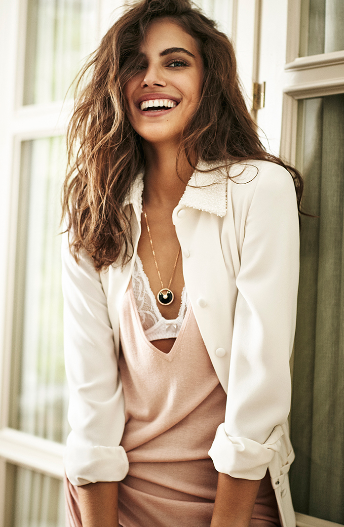 Smile... Shlomit Malka in Telva September 2015 (photography: Tomas de la Fuente, styling: Maria Johansson) via fashionedbylove.co.uk british fashion blog