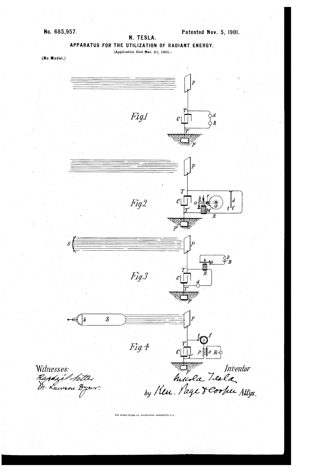nikola tesla apparatus for the utilization of radiant energy apparatus for the utilization of radiant energy and radiant energy receiver
