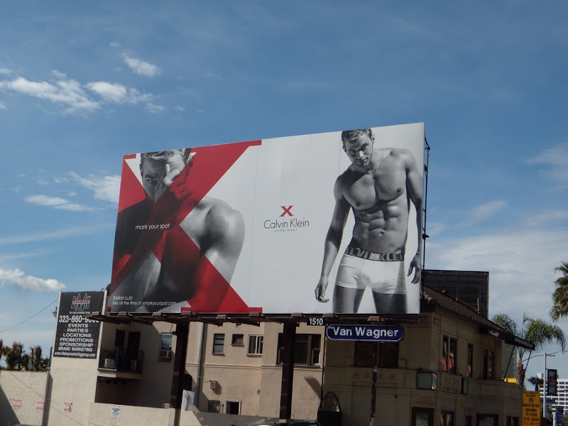Kellan Lutz CK X underwear billboard