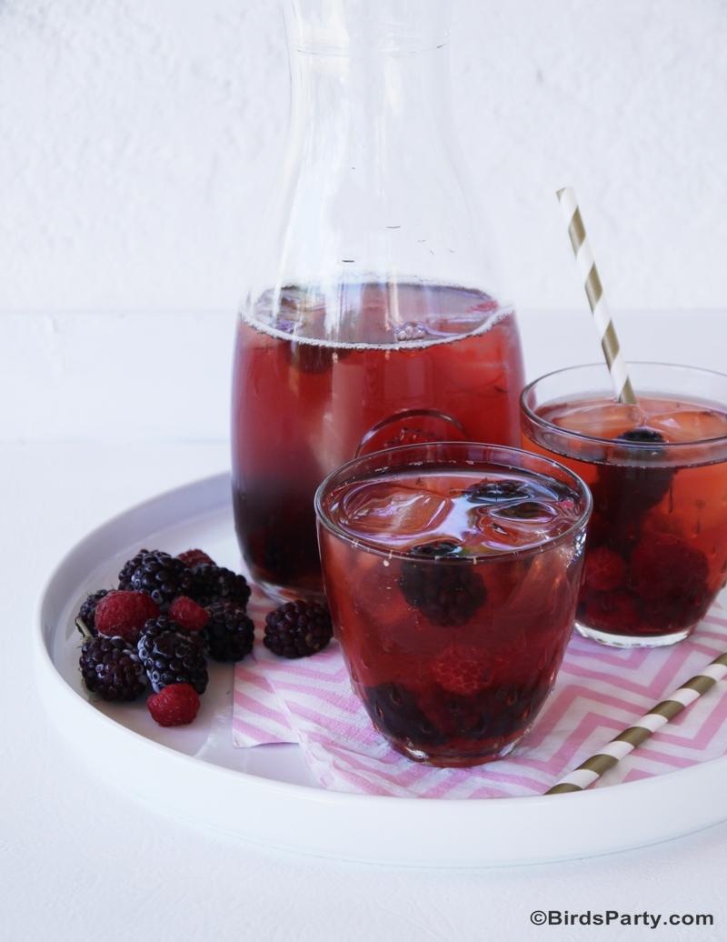 Recette Thé Glacé aux Fruits Rouges