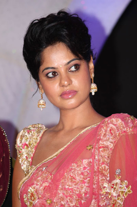 bindu madhavi new saree cute stills