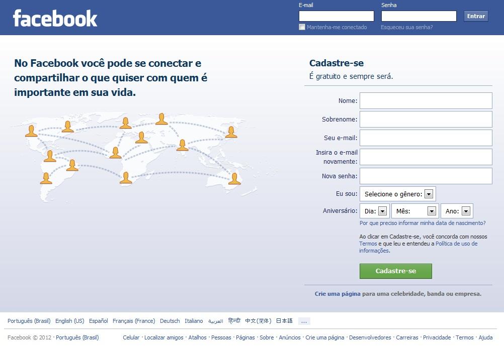 Facebook Login Entrar No Facebook Agora Wwwfacebookcom ...