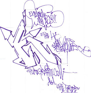 Graffiti Alphabet Letter K Sketches