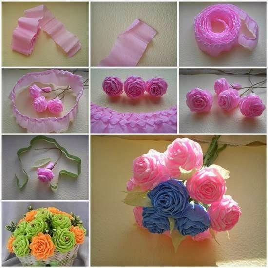 Покажите как сделать цветы