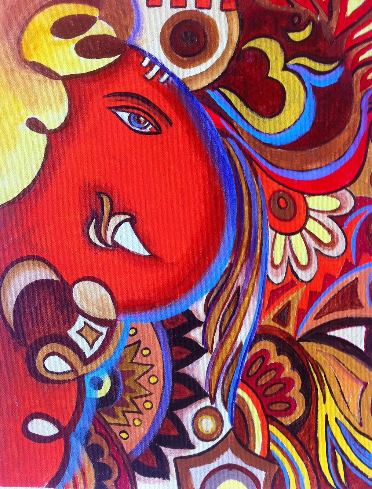 An unending adventure in Art: Abstract Ganesh I