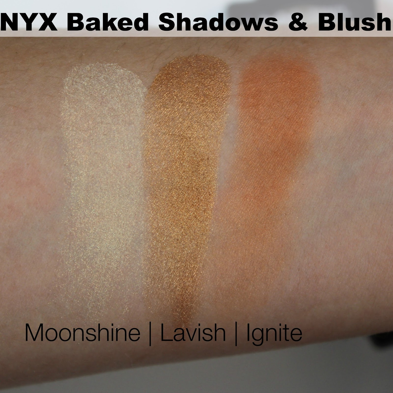 Nyx Baked Blush Ignite Nyx Baked Shadows/blush in