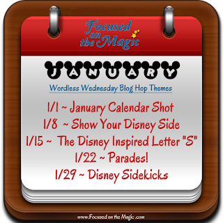 The Disney Wordless Wednesday Blog Hop Themes for January