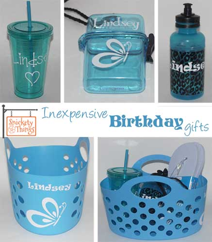 Snickety Things: Inexpensive Birthday Gifts