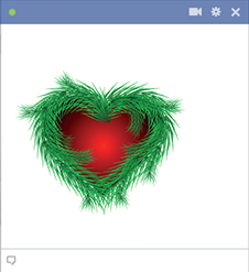 Evergreen heart for FB